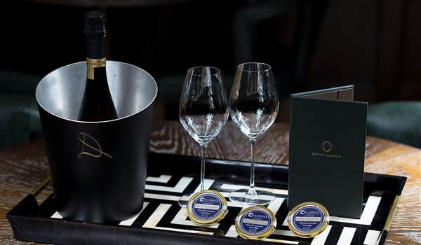 Champagne and Caviar event